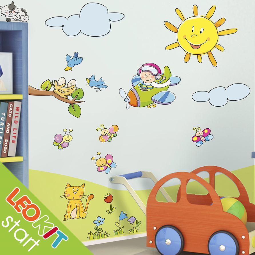Il Parco Delle Camerette leostickers® leokit start ® - il parco - adesivi murali camerette bambini